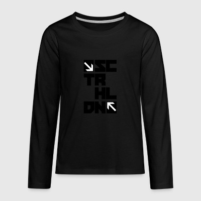 Scooter helte - Blocks - Teenager premium T-shirt med lange ærmer