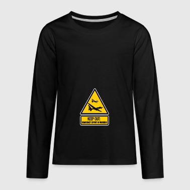 keep out: democracy export in progress - Teenagers' Premium Longsleeve Shirt