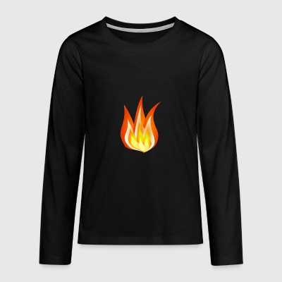 FIRE - Teenagers' Premium Longsleeve Shirt