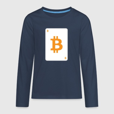 bitcoin card - Teenager Premium Langarmshirt