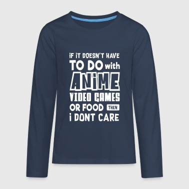 To do with Anime video Games or Food - video games - Teenagers' Premium Longsleeve Shirt