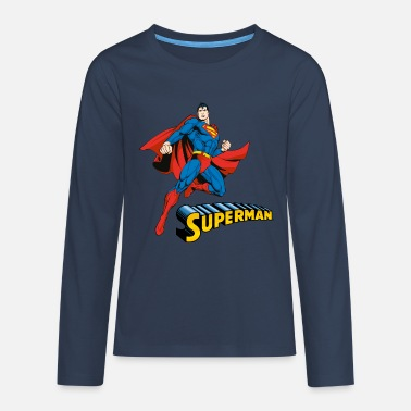 Superman Superman 'Pose cool' Men T-Shirt - Teenager Premium shirt met lange mouwen