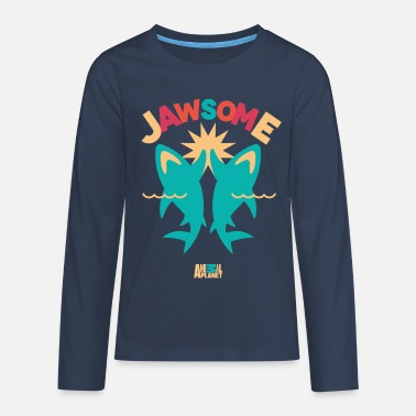 Officialbrands Animal Planet Ocean Humour Sharks Are Jawsome - Teenagers' Premium Longsleeve Shirt