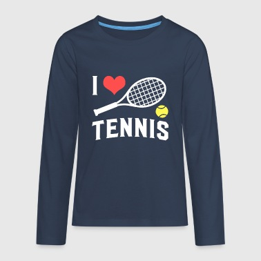 tennis - Teenager Premium shirt met lange mouwen
