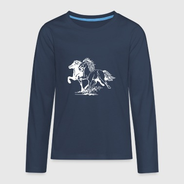 Horse Picture - Teenagers' Premium Longsleeve Shirt