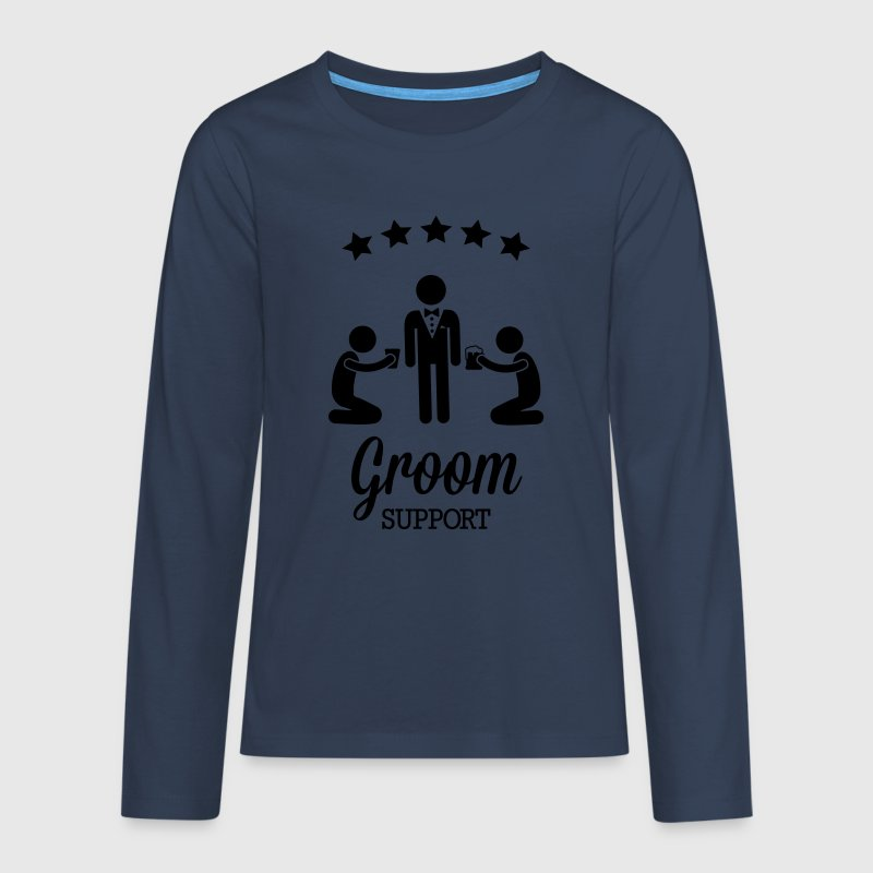 Groom Support Bier - Teenager Premium Langarmshirt