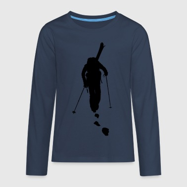 freeride skiing - Teenager Premium Langarmshirt