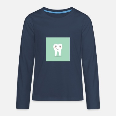 Limpio What It Is Dientes felices con fondo verde - Camiseta de manga larga premium adolescente