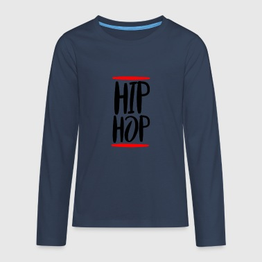 Hip Hop Old School Rap T-Shirt Gift - Camiseta de manga larga premium adolescente