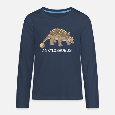 Stoned Baby Ankylosaurus dinosaur of Dino child Dino baby animal - Teenagers' Premium Longsleeve Shirt