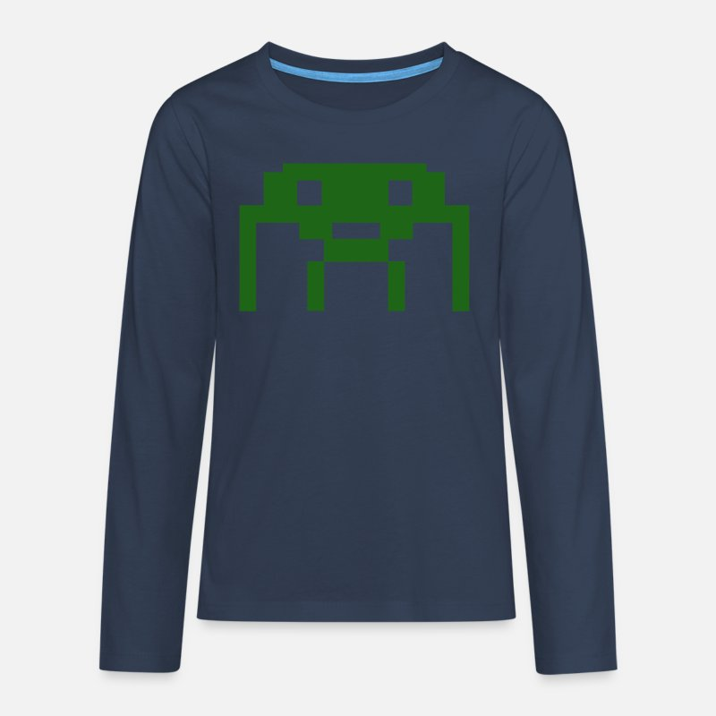 16bit Long Sleeve Shirts - 16 Bit - Teenage Premium Longsleeve Shirt navy