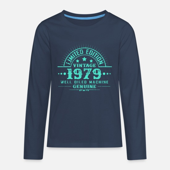 Years Long sleeve shirts - Year of birth 1979 - Teenage Premium Longsleeve Shirt navy