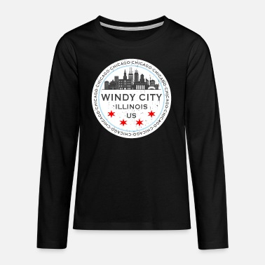 Chicago The Windy City Chicago Illinois US - Teenager Premium Langarmshirt