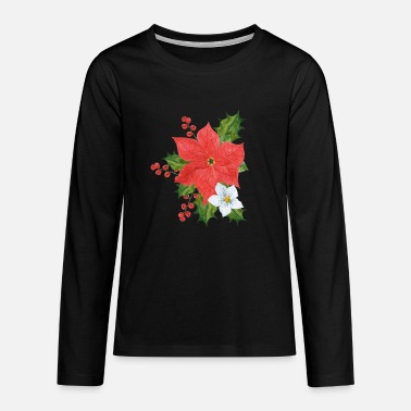 Poinsettia Poinsettia plant - Teenage Premium Longsleeve Shirt