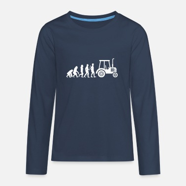 Trecker Tractor Trecker Evolution Farmer Farmer Farm - Teenage Premium Longsleeve Shirt