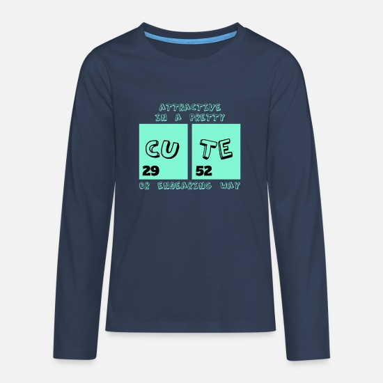 Chemistry Long sleeve shirts - Cute periodic table - Teenage Premium Longsleeve Shirt navy