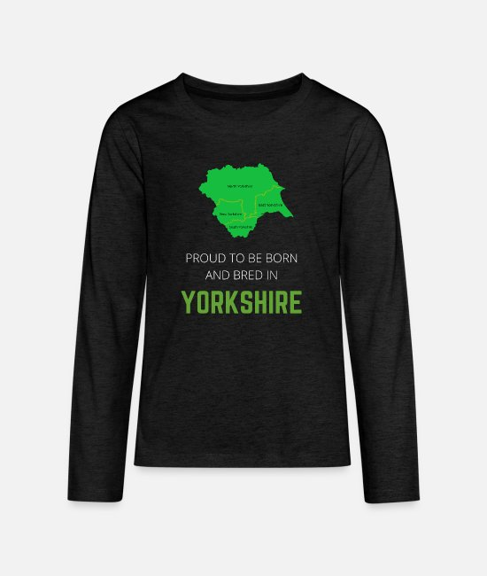 South Yorkshire Long-Sleeved Shirts - Proud to be born and bred in Yorkshire - Teenage Premium Longsleeve Shirt charcoal grey
