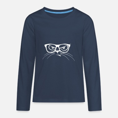 Nerd Cat - Teenager Premium Langarmshirt
