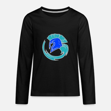 Leible Cool Blue Spartahelm - Leibl Designs - Teenage Premium Longsleeve Shirt