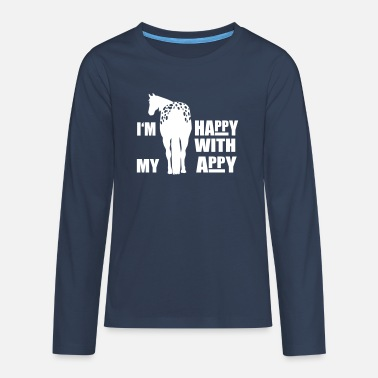 Appaloosa Happy with my Appy - Teenager Premium Langarmshirt