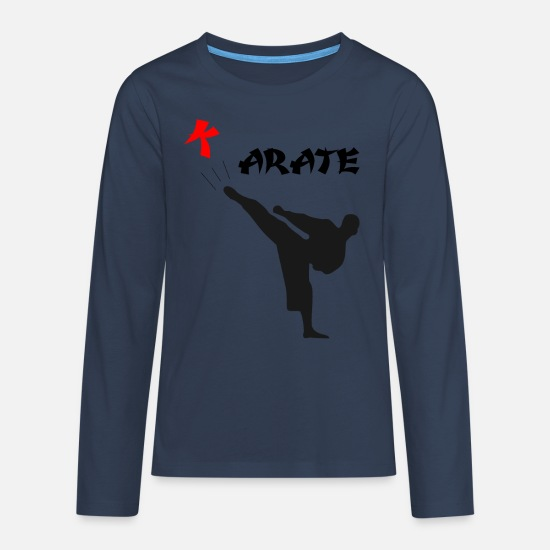 Karate Long Sleeve Shirts - karate - Teenage Premium Longsleeve Shirt navy