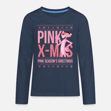 Pink Panther Pink Xmas Season's Greetings - Teenage Premium Longsleeve Shirt