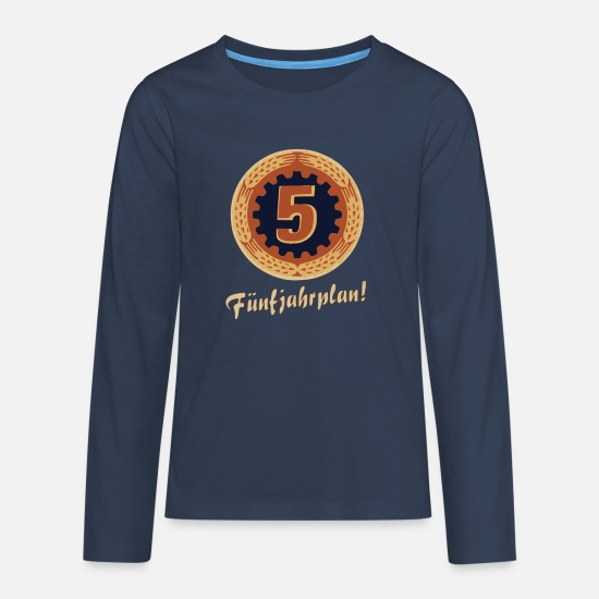 Gdr Long sleeve shirts - Five-year plan - Teenage Premium Longsleeve Shirt navy