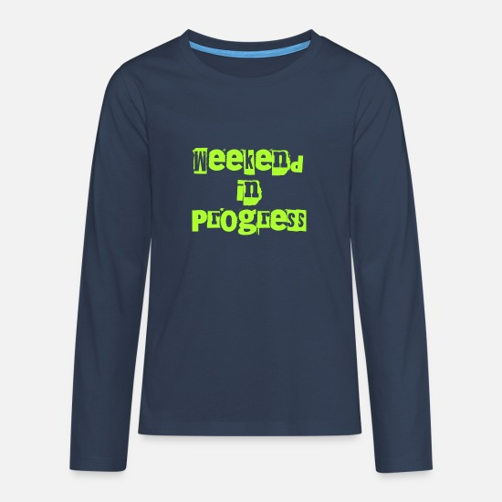 Stylish Long Sleeve Shirts - Weekend - Teenage Premium Longsleeve Shirt navy