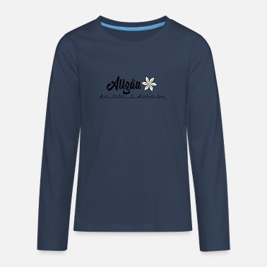 Allgäu Allgäu with heart and mind, Allgäu design - Teenage Premium Longsleeve Shirt