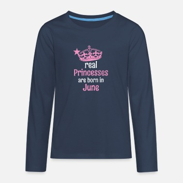 Eanf Real Princesses are born in # EANF # poison - Teenage Premium Longsleeve Shirt
