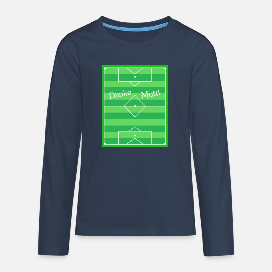 Rhombus Long sleeve shirts - Diamond football field 2 - Teenage Premium Longsleeve Shirt navy