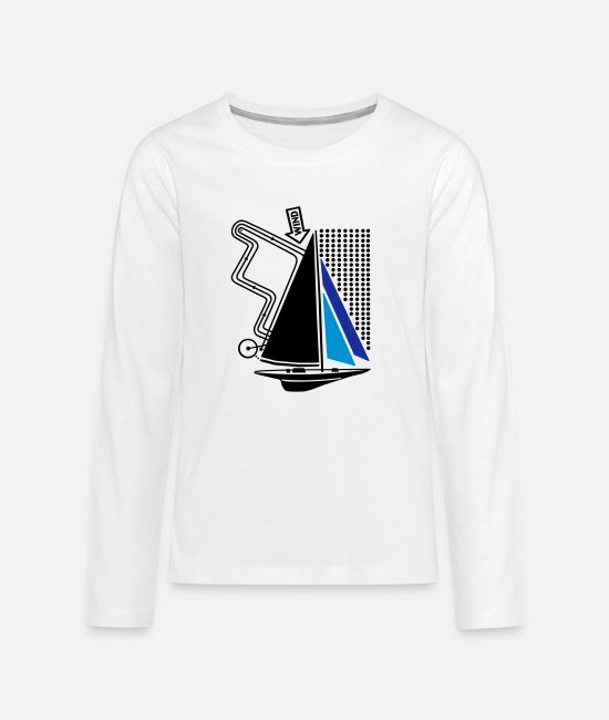 Water Long-Sleeved Shirts - technical sailing yacht no.1 the standard - Teenage Premium Longsleeve Shirt white