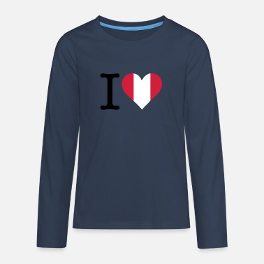 I Love Peru - Teenage Premium Longsleeve Shirt