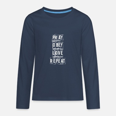 Prayers prayer - Teenage Premium Longsleeve Shirt