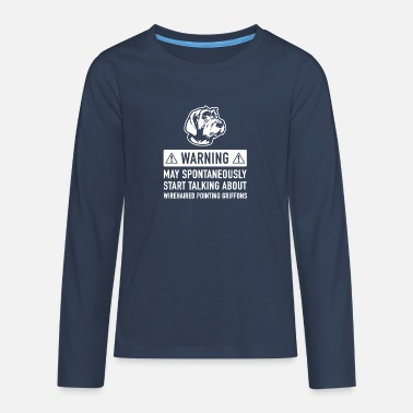 Wirehaired Pointing Griffon Grappig Griffon Korthals Cadeau Idee - Teenager premium longsleeve
