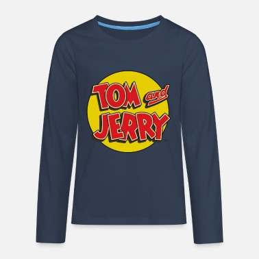Tom Und Jerry Logo - Teenager Premium Langarmshirt