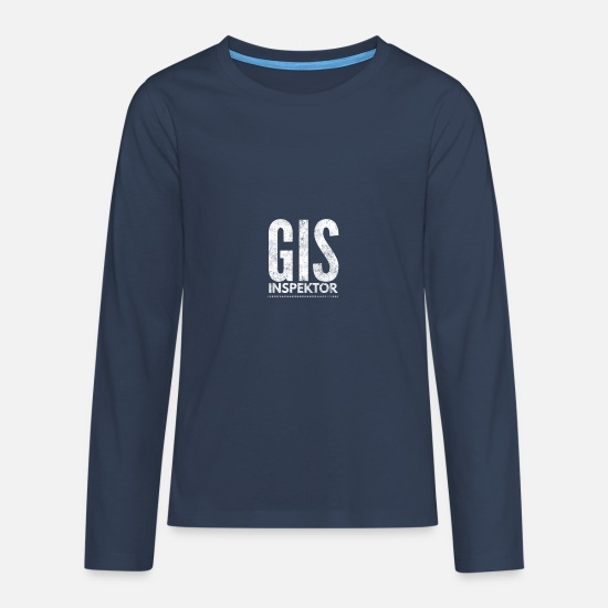 Broadcast Long sleeve shirts - GIS charges Austria Satire Inspector Shirt - Teenage Premium Longsleeve Shirt navy