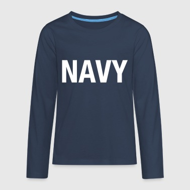 NAVY - Teenagers' Premium Longsleeve Shirt