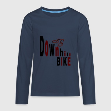 Downhill bike - Camiseta de manga larga premium adolescente