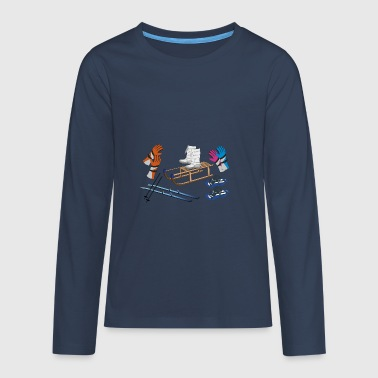winter objects - Teenagers' Premium Longsleeve Shirt