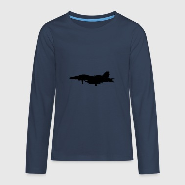Jet fighter jet jet-jet gift gift idea - Teenagers' Premium Longsleeve Shirt