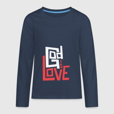 God is Love - Teenagers' Premium Longsleeve Shirt