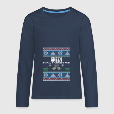 Ugly Green Christmas Family Vacation Tshirt - Teenagers' Premium Longsleeve Shirt
