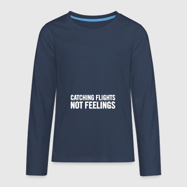 Catching Flights White - Teenagers' Premium Longsleeve Shirt