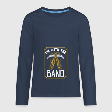 In with the Band instrument van de saxofoon - Teenager Premium shirt met lange mouwen