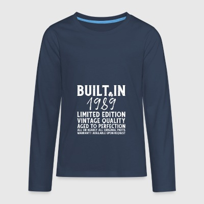 BUILT IN 1989! - Teenagers' Premium Longsleeve Shirt
