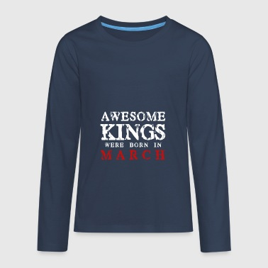 King's birthday in March - Teenagers' Premium Longsleeve Shirt