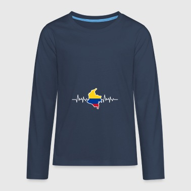 Colombia - Teenagers' Premium Longsleeve Shirt