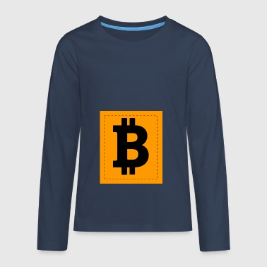 Bitcoin Icon - Teenager Premium shirt met lange mouwen