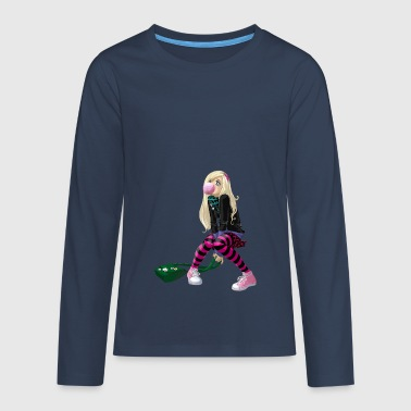 manga girl - Teenagers' Premium Longsleeve Shirt